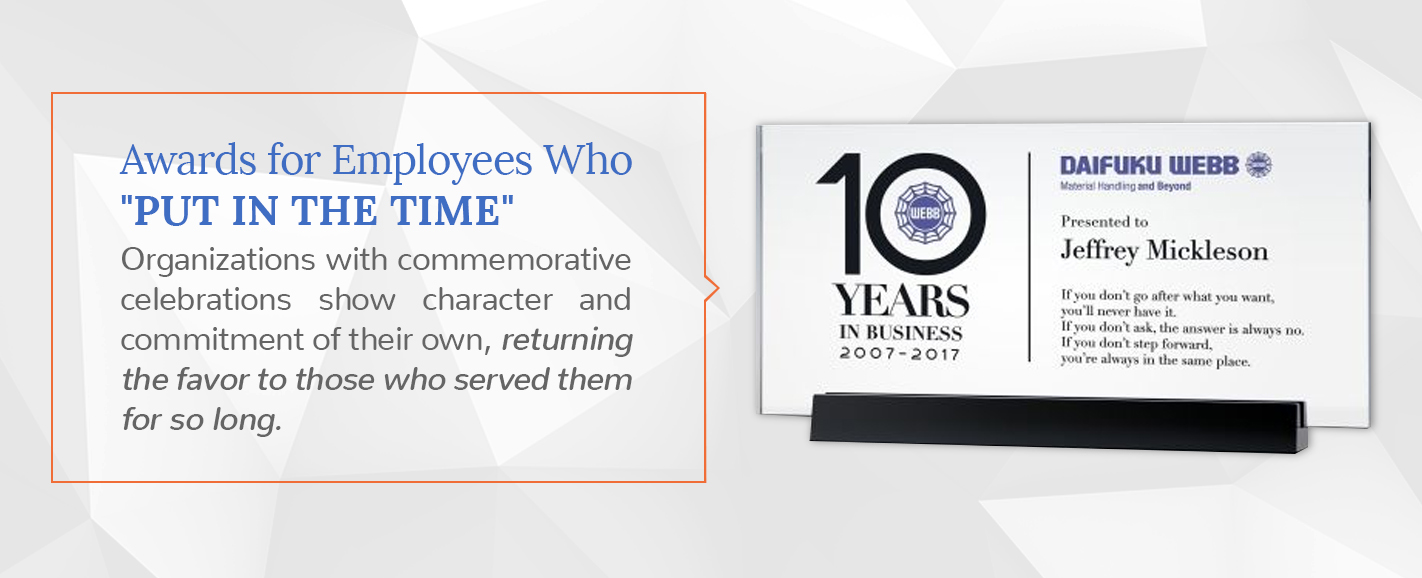 award ideas for employees that have been with company for a long time