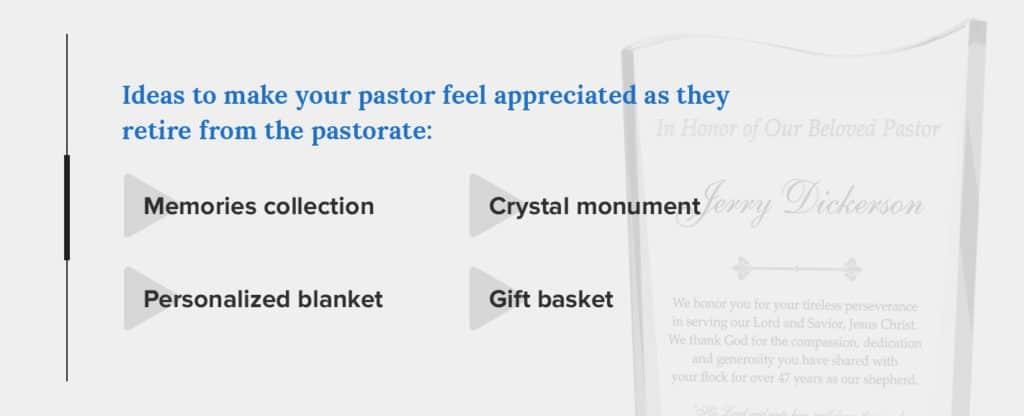 retirement gift ideas for pastor