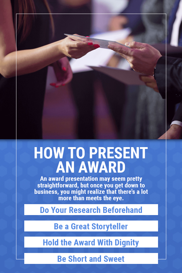 how to present an award