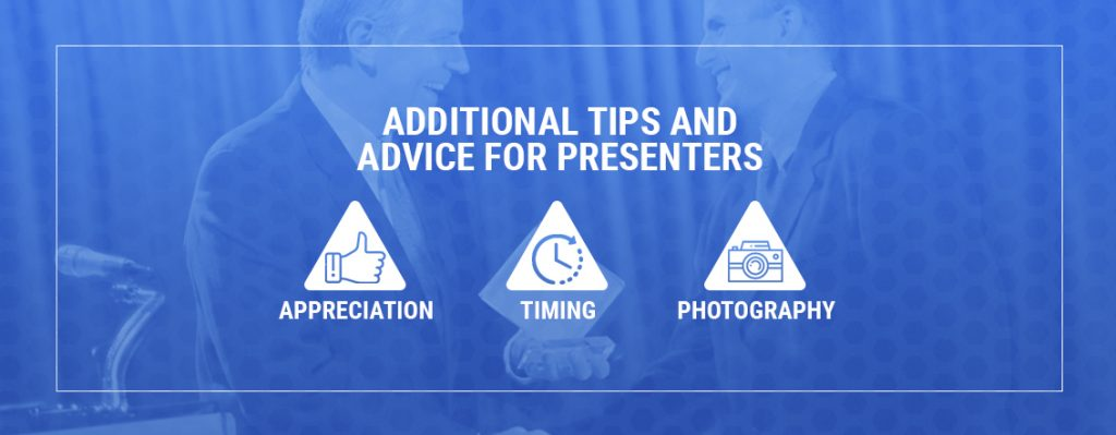 additional advice for presenters