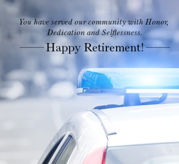 UNIQUE RETIREMENT GIFTS FOR POLICE OFFICER