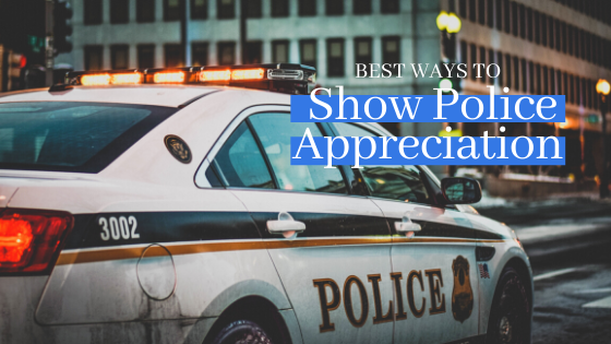 best ways to show police appreciation graphic