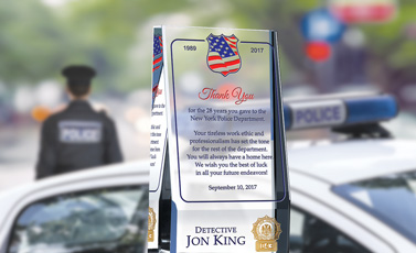 Police Retirement Plaques