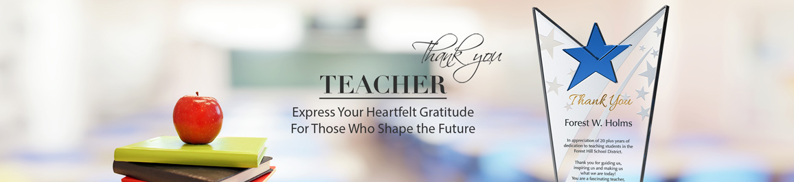 Personalized Crystal Awards & Plaques for Teachers - Banner 1