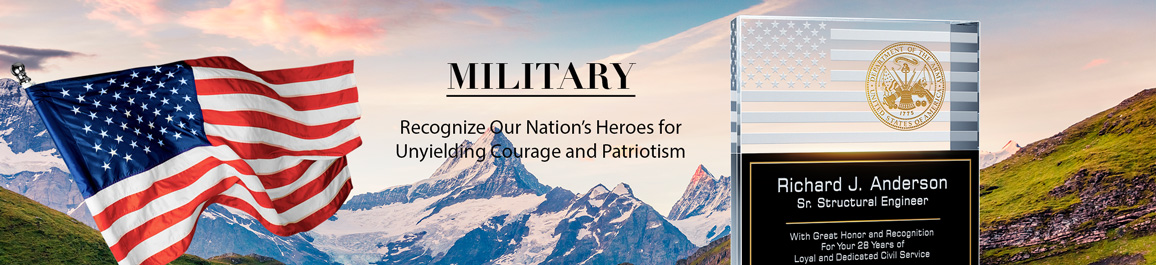 Pesronalized Awards & Plaques for Military Service Members - Banner 1