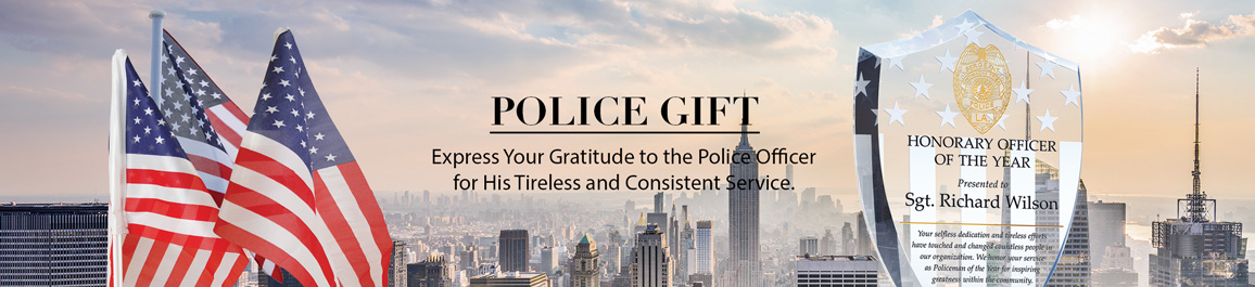 Crystal Police Plaques & Officer Recognition Awards - Banner 1