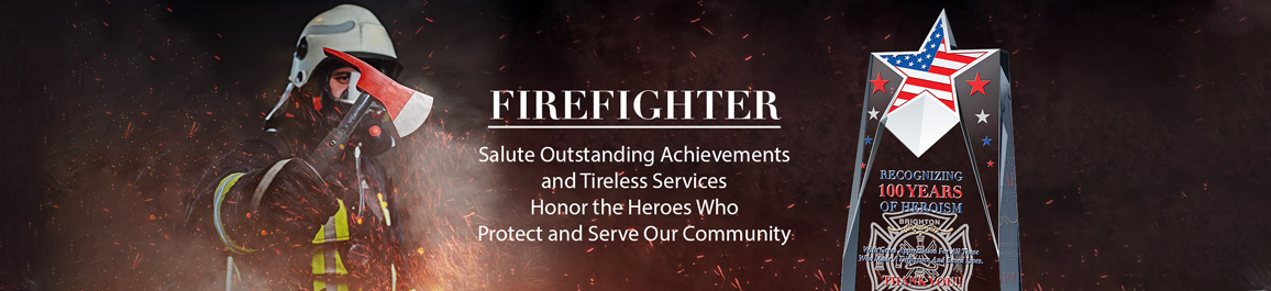 Personalized Crystal Firefighter Plaques and Firemen Awards - Banner 1