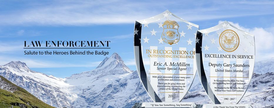 Personalized Law Enforcement Appreciation Gifts and Award Plaques - Banner 1