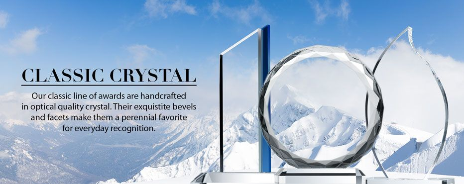 Engraved Classic Crystal Award Plaques - Banner 1