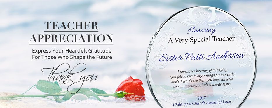 Personalized Teacher Appreciation Plaques & Awards - Banner 1