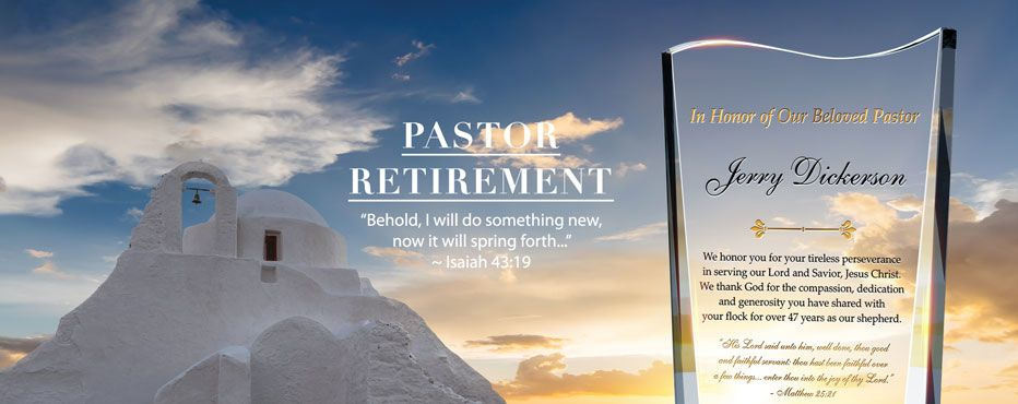 Personalized Pastor Retirement Plaques Amp Gifts Diy