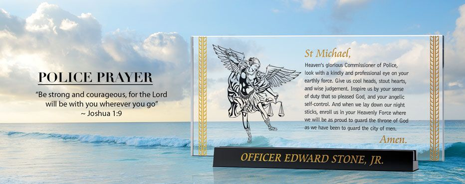 Personalized Police Officer Prayer Plaques & Awards - Banner 1