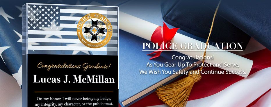 Personalized Police Graduation Plaques - Banner 1