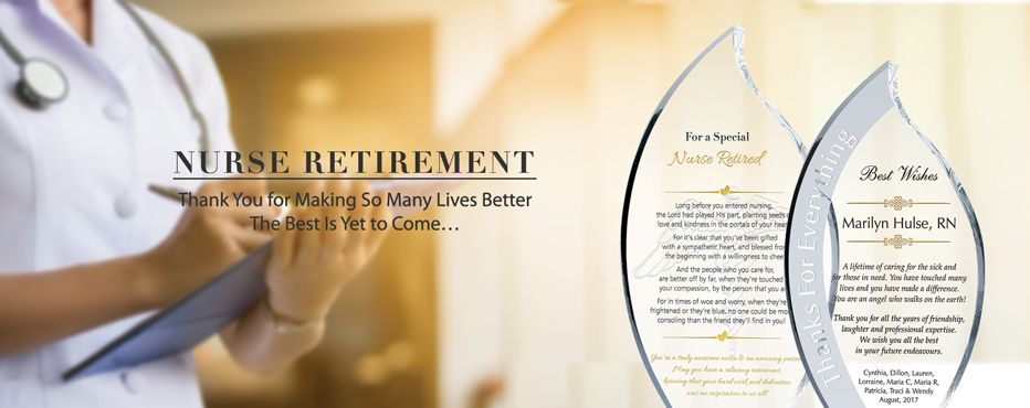 Nurse Retirement Gift Plaques & Wording Ideas - Banner 1
