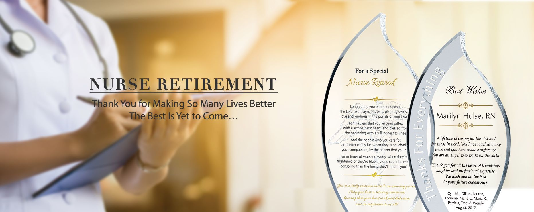 Nurse Retirement Quotes Messages And Plaque Wording Ideas Diy Awards
