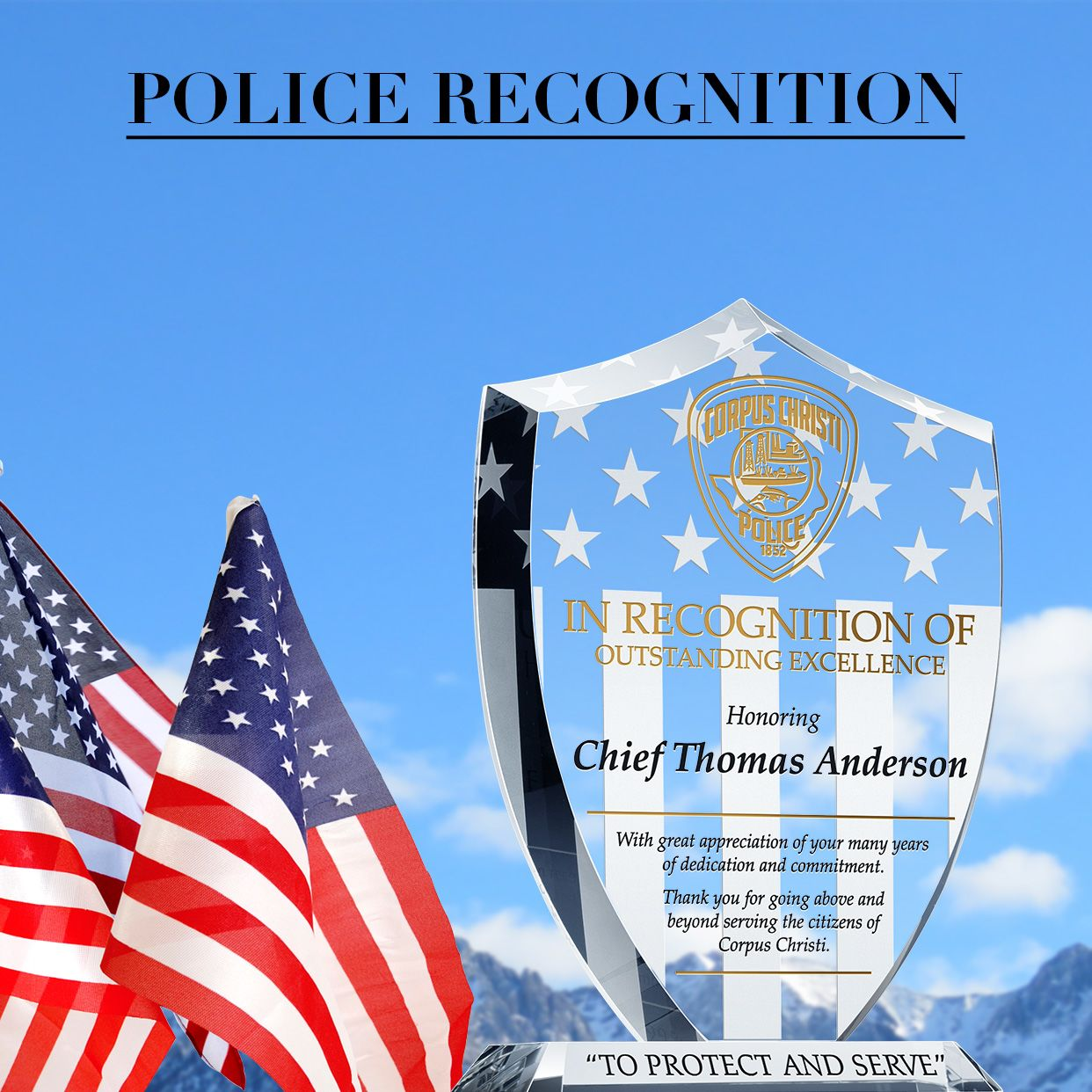 Personalized Police Recognition Gift Plaques - Banner 1