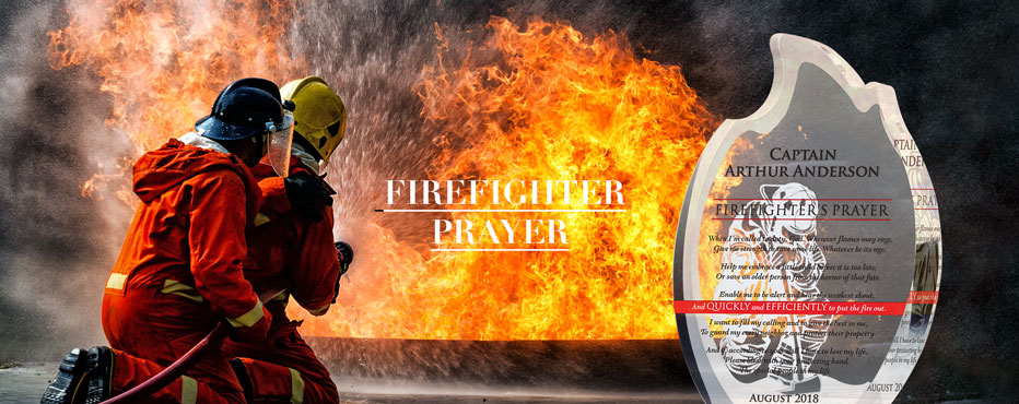 Personalized Firefighter Prayer Award Plaques - Banner 1