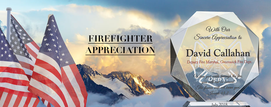 Personalized Firefighter Appreciation Gifts and Thank You Plaque - Banner 1