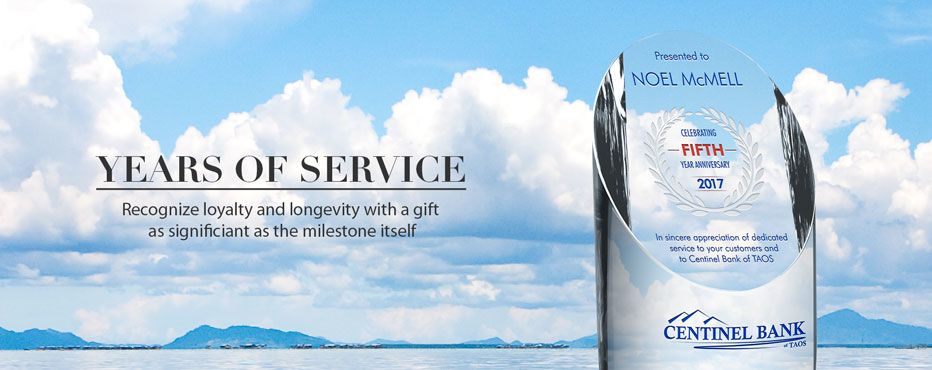 Buy Personalized Awards for Years of Service - Banner 1