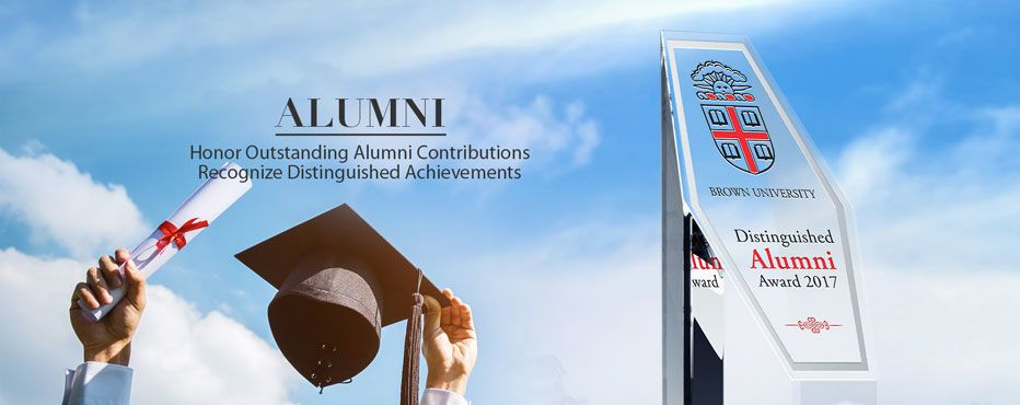 Distinguished Alumni Awards and Plaque Samples.<br>Honor their extraordinary services and contributions. - Banner 1