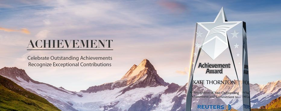 Outstanding achievement award ideas. Recognize exceptional<br> contributions in style with our Special achievement Awards. - Banner 1