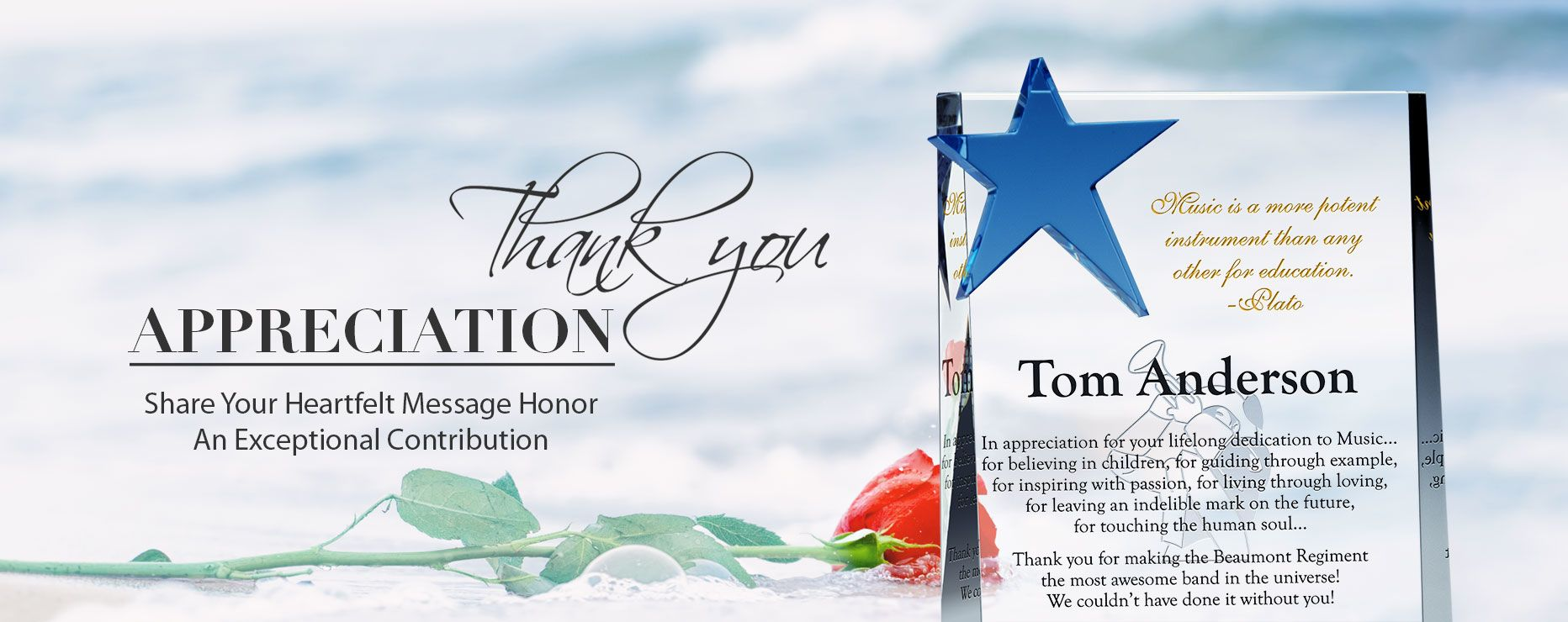 appreciation award plaque wording ideas