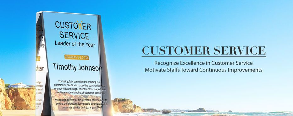 Recognize excellence in customer service,<br>Motivate staffs toward continuous improvements! - Banner 1