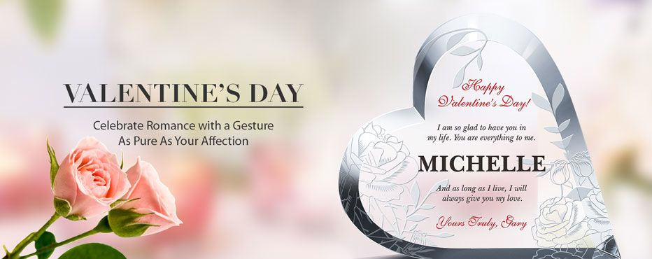 Engraved Crystal Valentine's Day Gifts - Banner 1