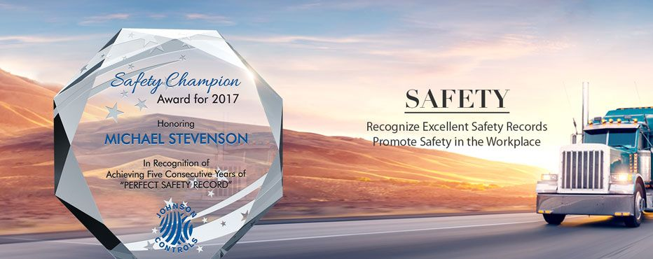 Safety Incentive Award Ideas & Samples.<br> Recognize outstanding safety achievements. - Banner 1