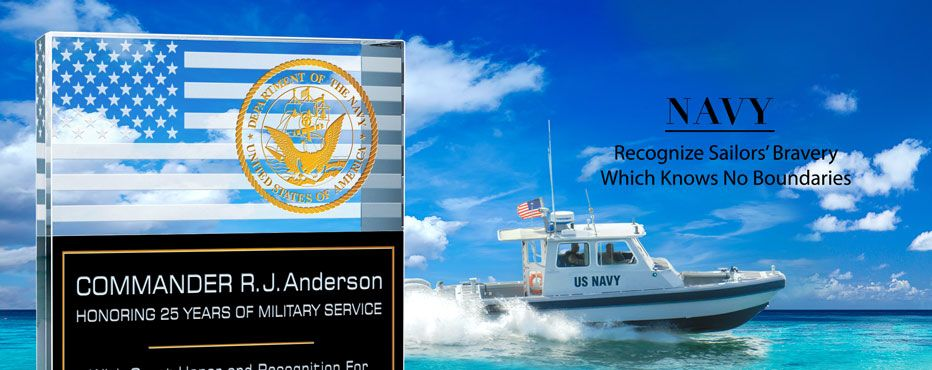 Unique Navy Plaques and Sailor Gifts.<br> Honor Excellence with the Personalized Navy Gifts. - Banner 1