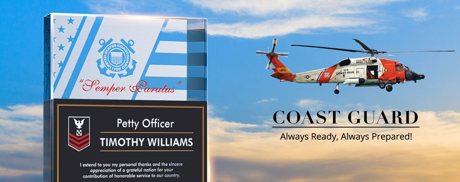 Coast Guard Gift Plaques; USCG Gifts - Banner 1