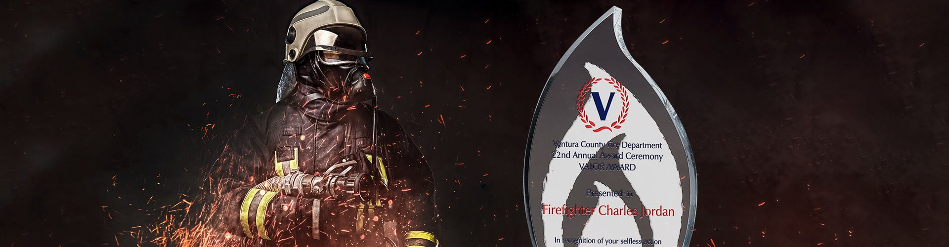 Personalized Crystal Recognition Plaques for Firefighters - Banner 1