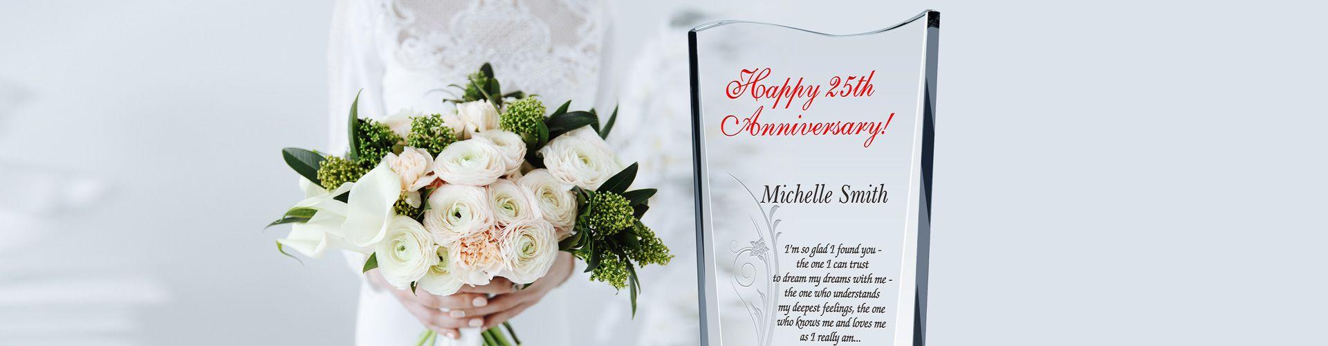 25th Wedding Anniversary Wording Ideas And Sample Layout Diy Awards