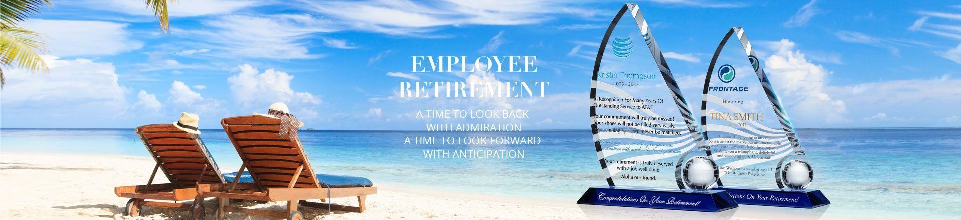 Unique Retirement Plaques with Sample Award Wording Ideas ...