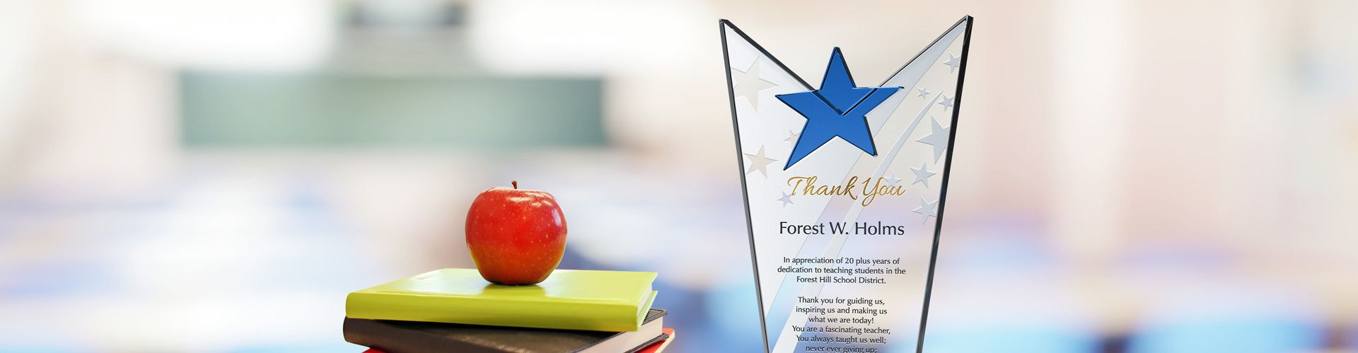 Custom Crystal Plaques and Awards for Teachers - Banner 1