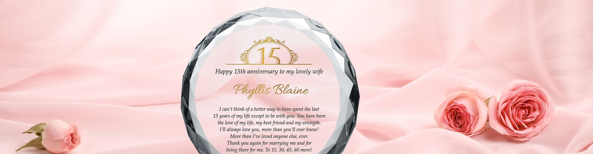 Crystal Engraved Gift for Wedding Anniversary - Banner 1