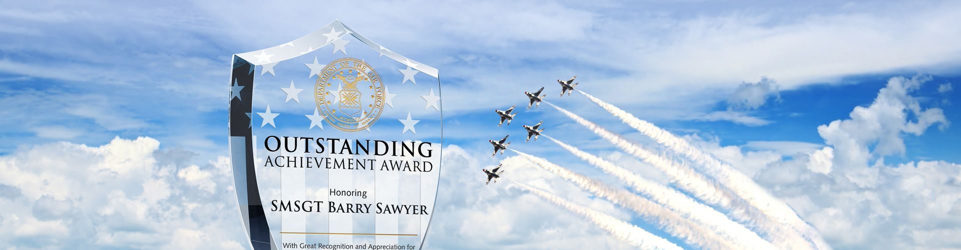 Pesronalized Award Plaques for Air Force Veterans & Members - Banner 1