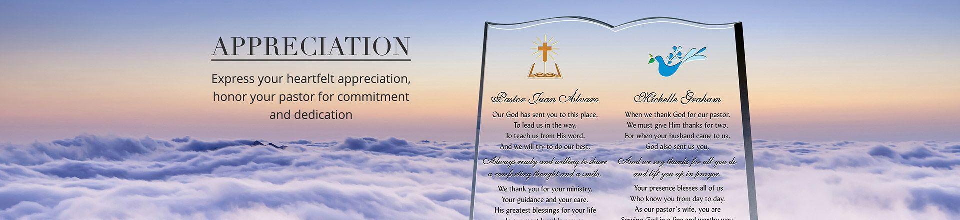 Pastor Appreciation Poems Scriptures and Quotes DIY Awards