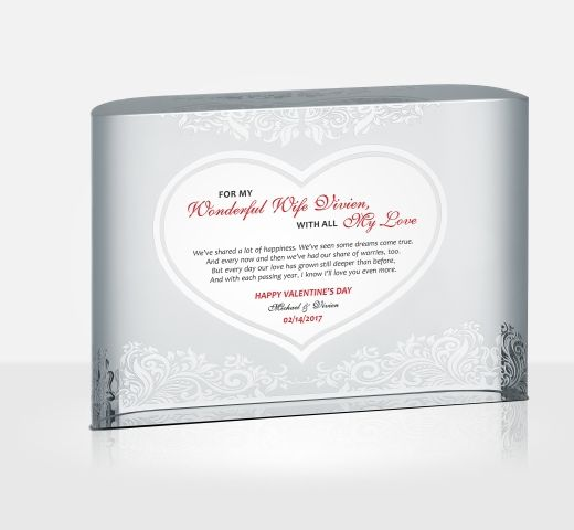 da69c37a1fa1 All My Love Crystal Plaque - DIY Awards