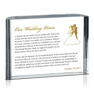 Personalized Wedding Vow Gift Idea