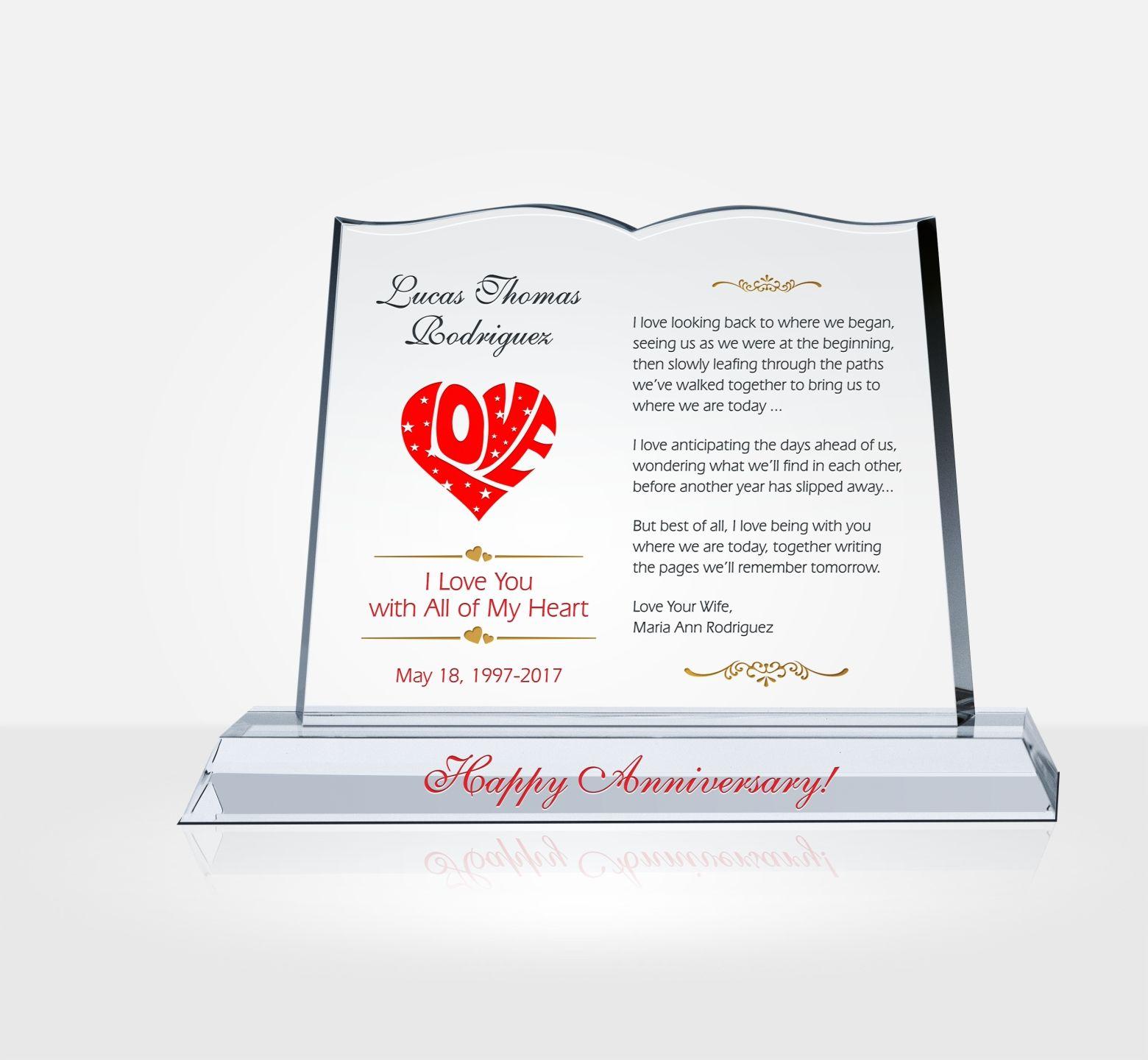 Anniversary Gift For Husband Diy Awards