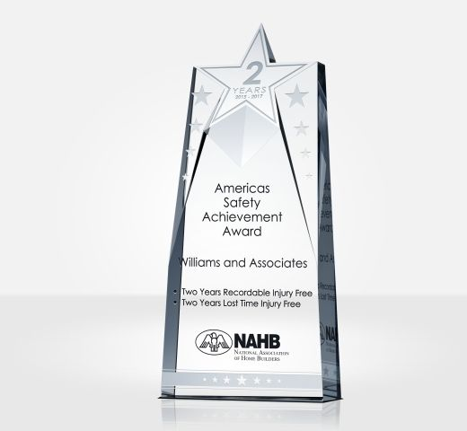 Star Safety Recognition Plaque