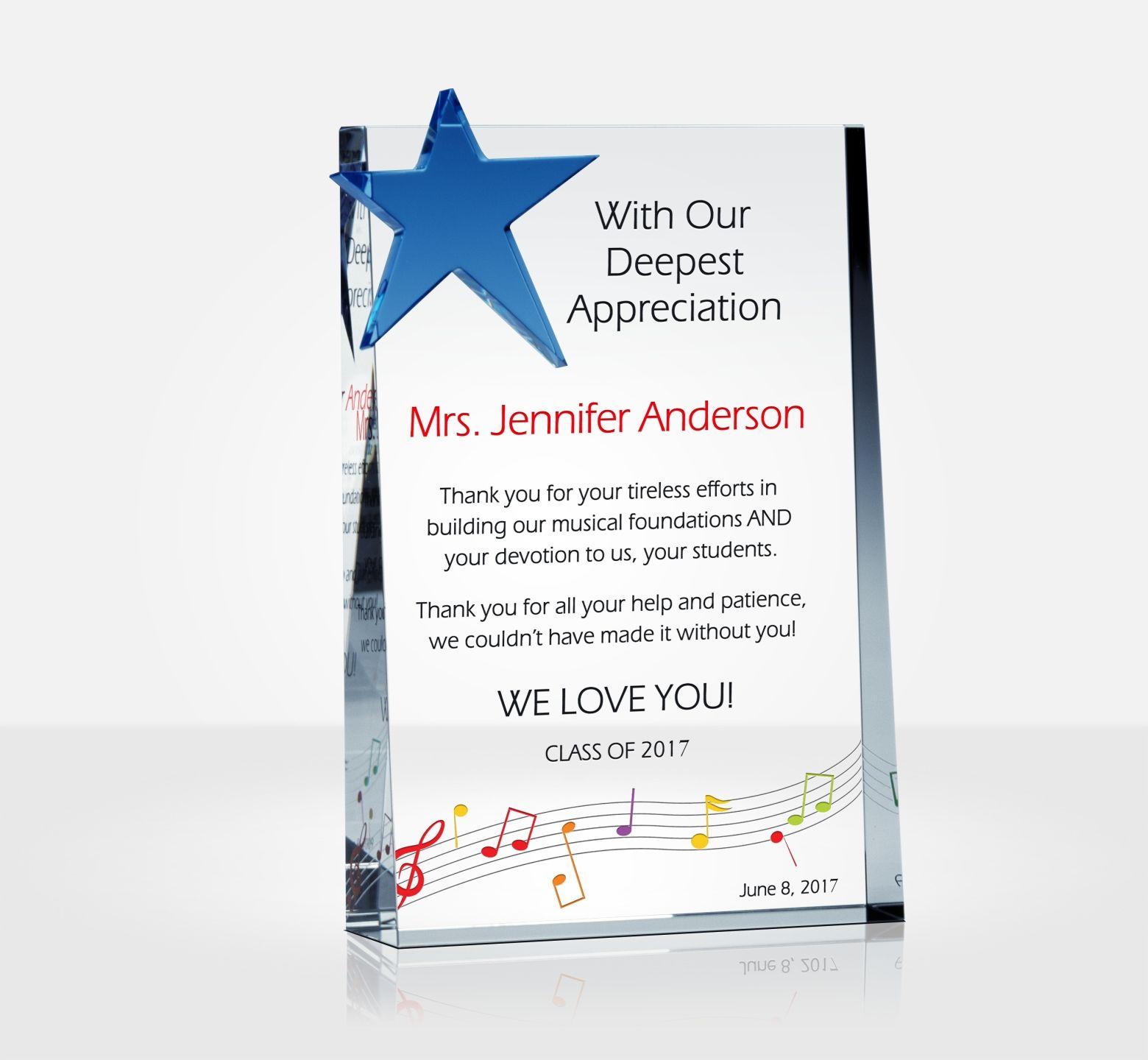 Appreciation Gifts For Musicians Diy Awards