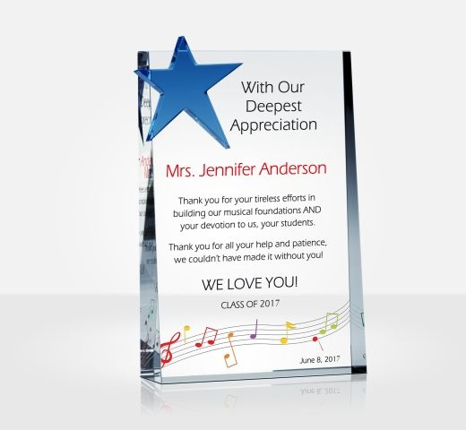 Star Appreciation Plaque