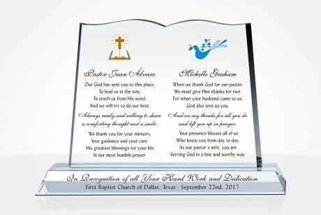 Personalized Appreciation Plaques For A Pastor Diy Awards
