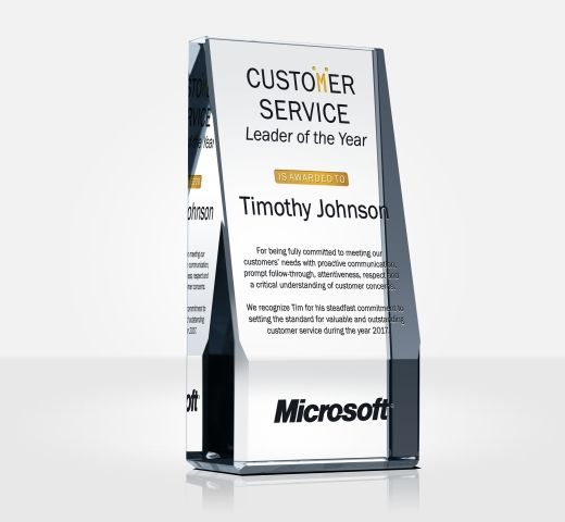 Customer Service Leader of the Year Award Plaque