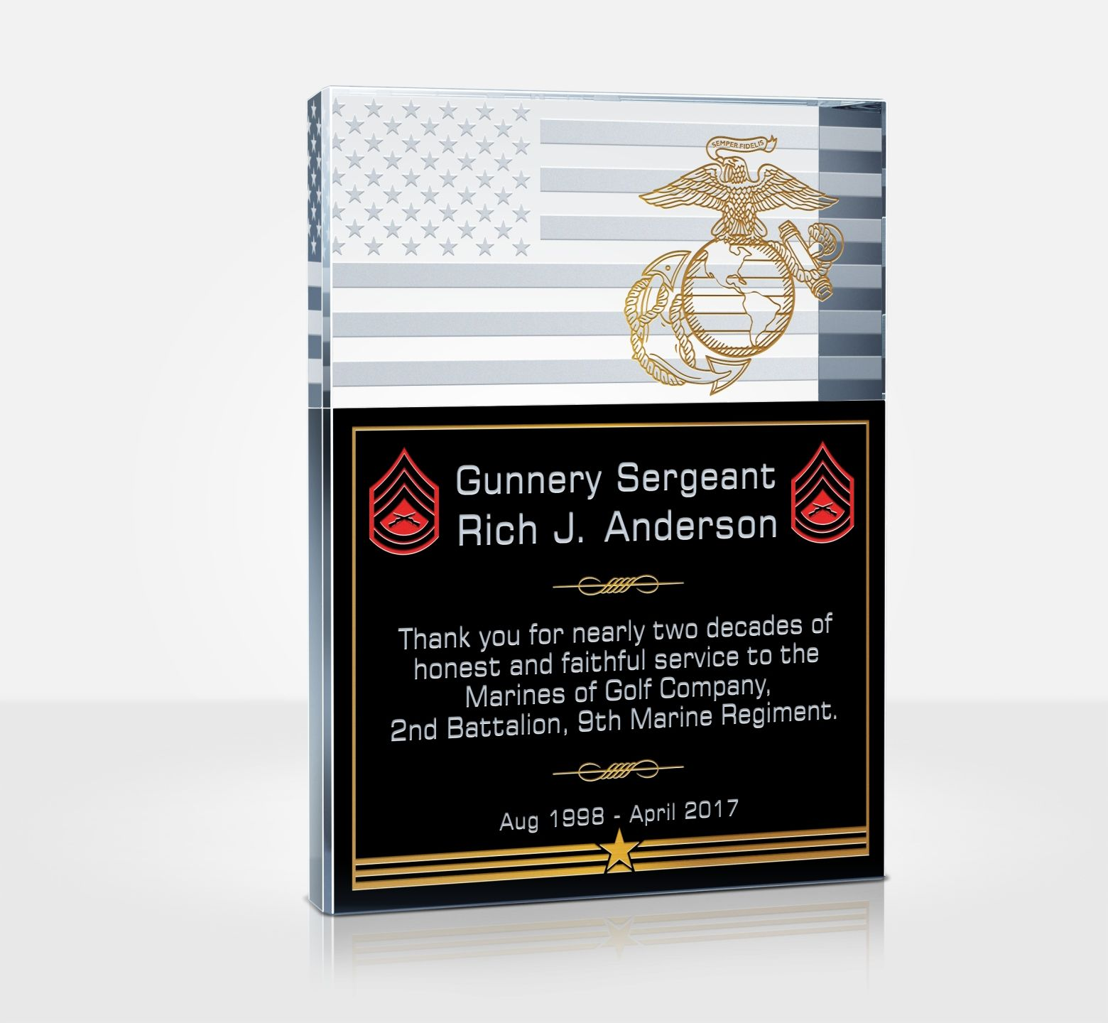 unique military service plaques and thank you quotes | diy awards