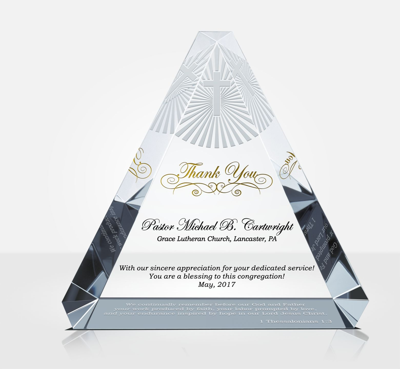Appreciation Plaque For Pastors Priests Deacons Diy Awards