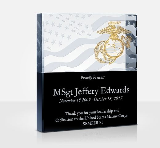 Marine corps appreciation plaques and wording samples diy awards spiritdancerdesigns Image collections