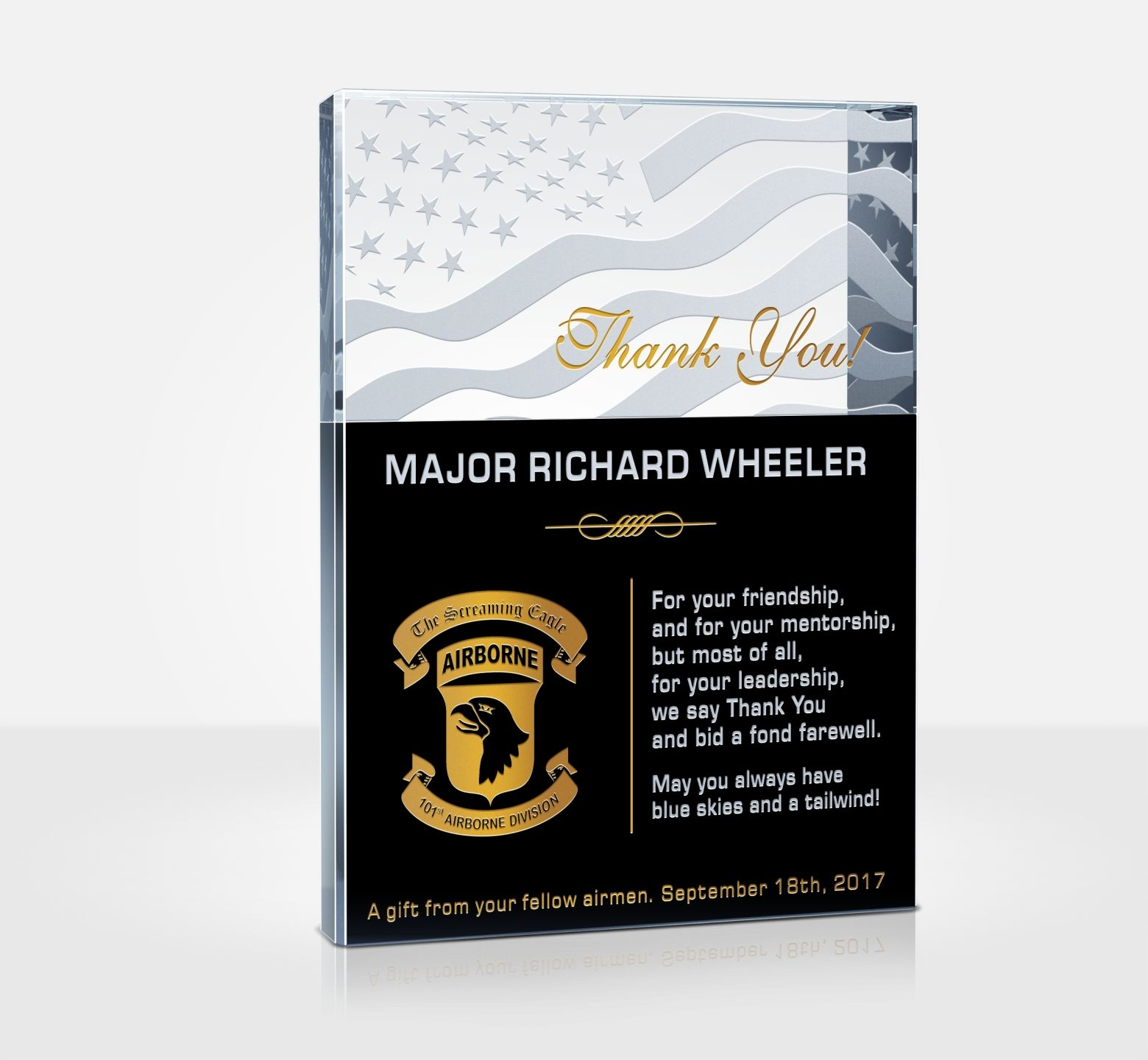 Going Away Quotes For Military Plaques: Air Force Thank You Plaques And Appreciation Quotes